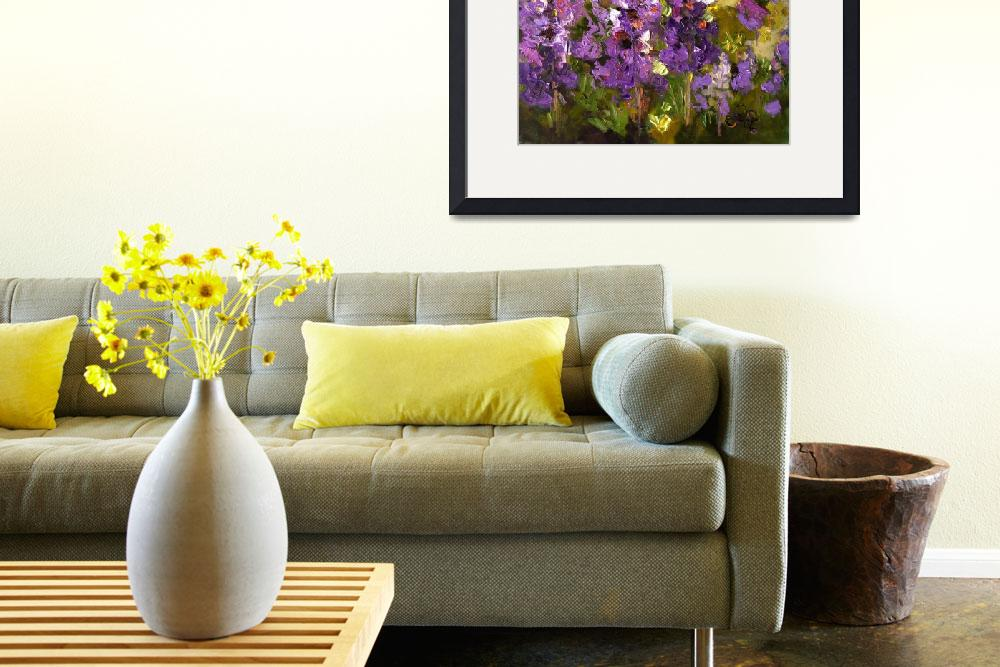 """""""Lupines Impressionist Flower Painting&quot  (2008) by GinetteCallaway"""