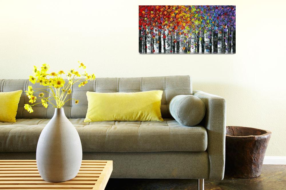 """Modern Landscape Abstract Birch Trees""  (2014) by modernhouseart"