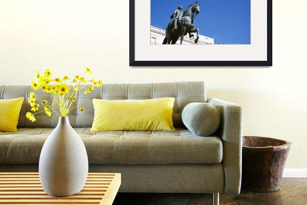 """Low angle view of an equestrian statue of a king&quot  by Panoramic_Images"