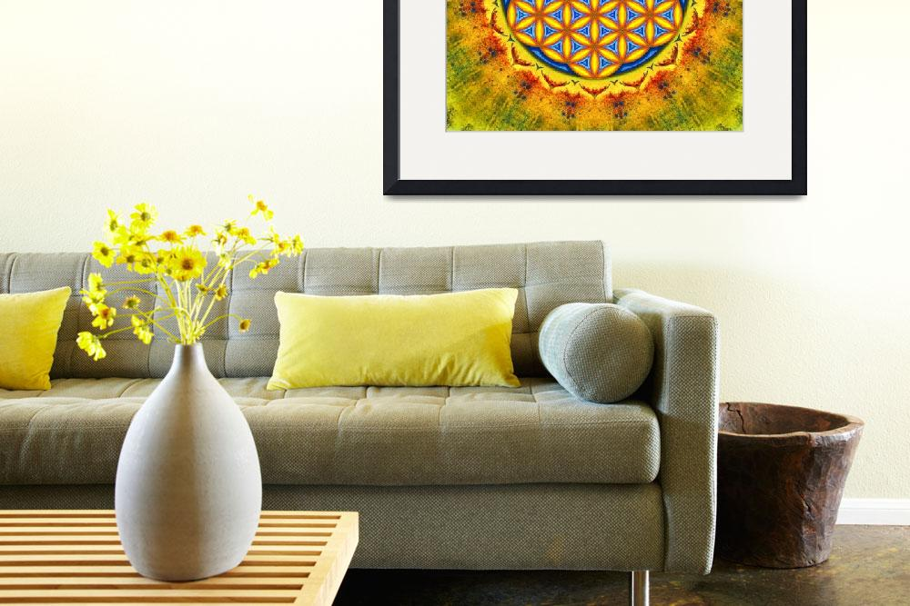 """""""Flower Of Live - Artwork Autumn Sun""""  by dcz"""