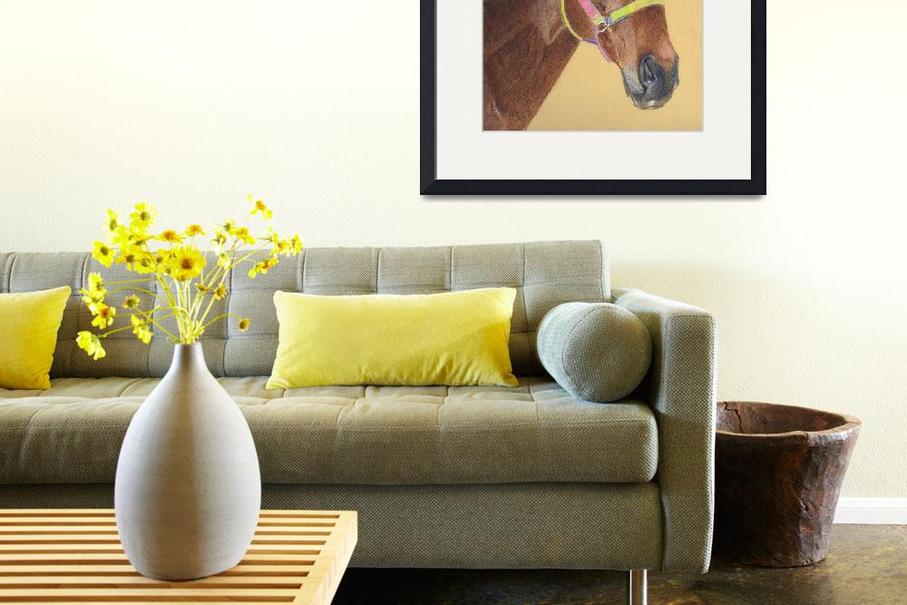 """""""Thoroughbred Horse Colored Pencil Art""""  (2006) by PatriciaBarmatz"""