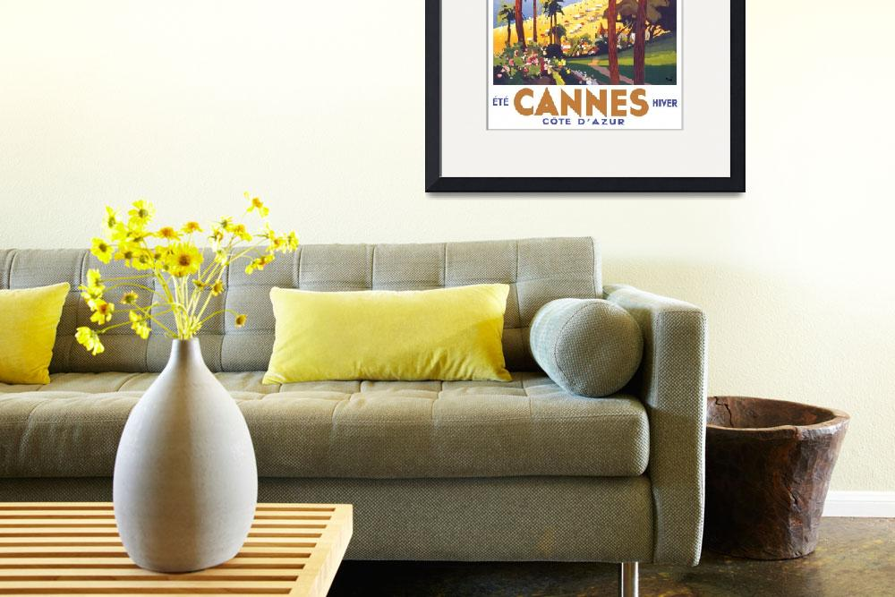 """""""Cannes Travel Poster&quot  by jvorzimmer"""