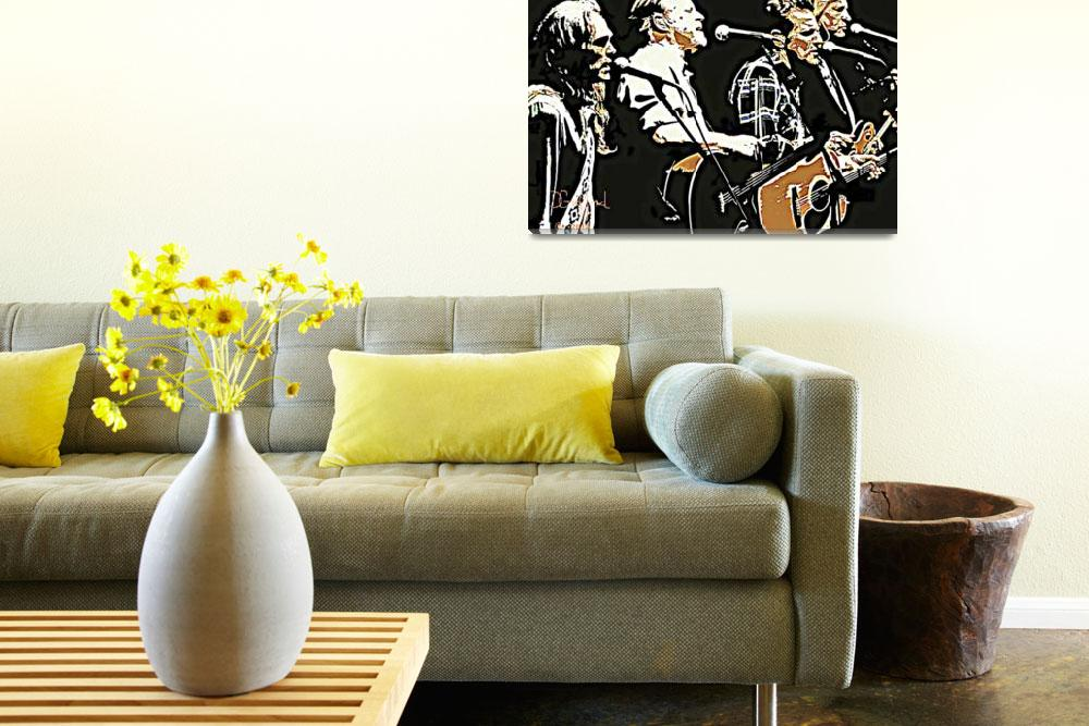 Art print POSTER CANVAS Rock Band The Eagles on Rock