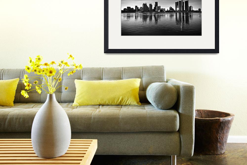 """""""Detroit Skyline&quot  by RobTerwilliger"""