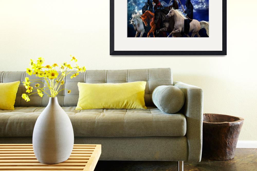 """""""Four Horsemen of the Apocalypse Painting&quot  (2011) by Creative-Expressions"""