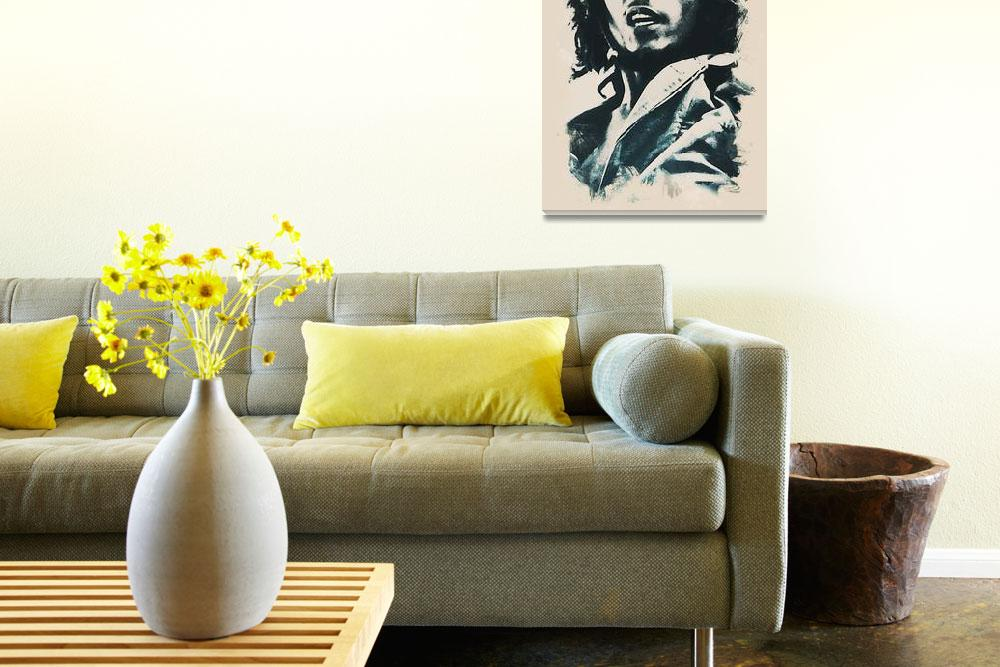 """""""Bob Marley art wcolor 2""""  by motionage"""