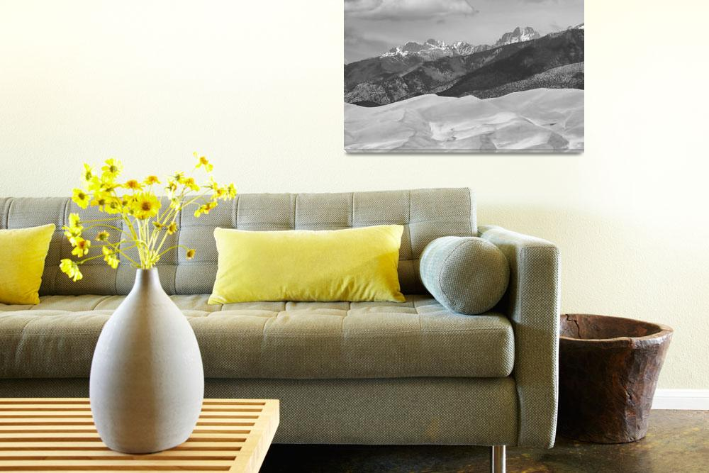 """The Great Sand Dunes  BW Print 45""  (2010) by lightningman"