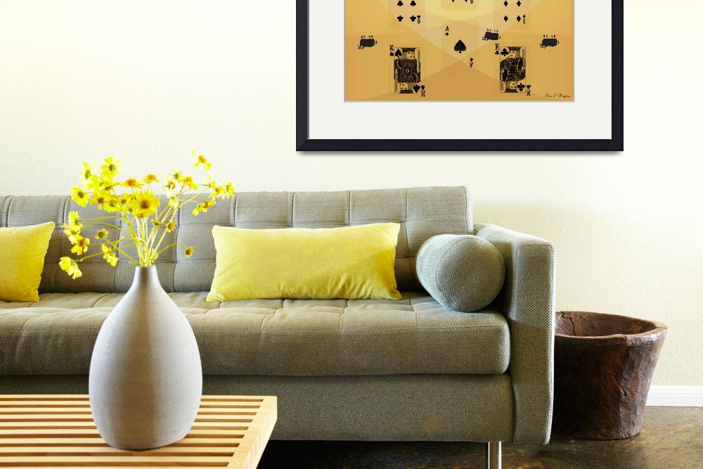 """House of Cards Endgame - Yellow""  (2008) by ProvencalDesigns"