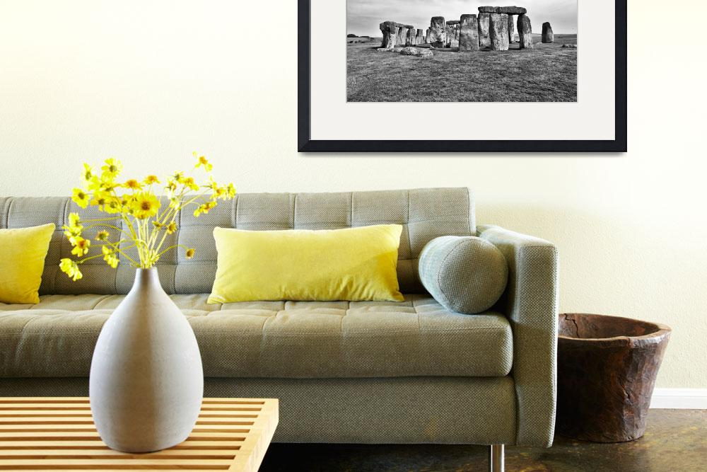 """""""Stonehenge in Black and White&quot  by PJPHOTO"""