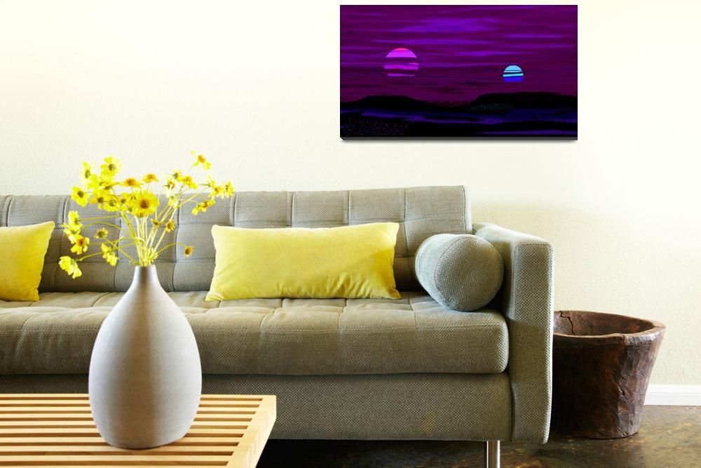 """""""Violet Alien Sunset&quot  (2013) by TheNorthernTerritory"""