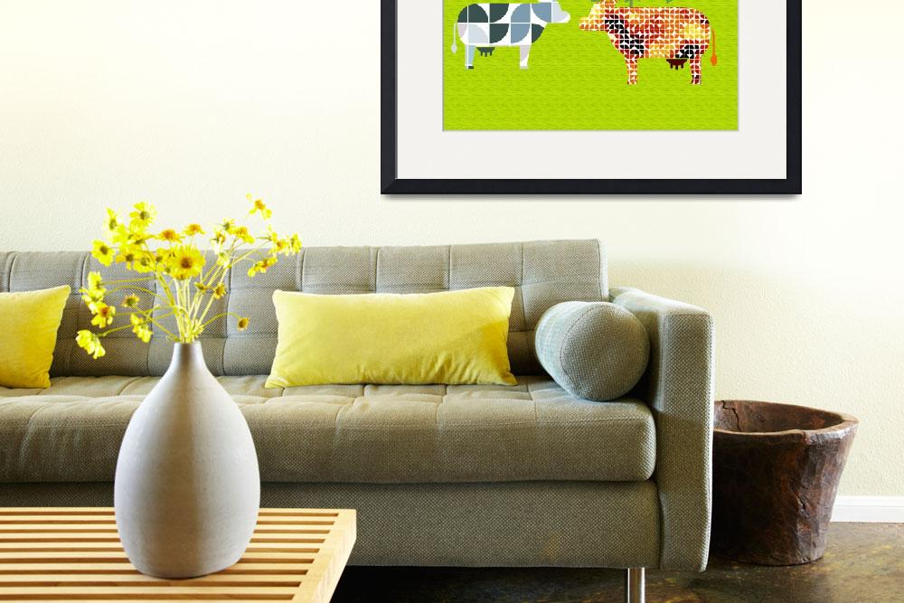 """Cows in pasture""  (2012) by Design4uStudio"