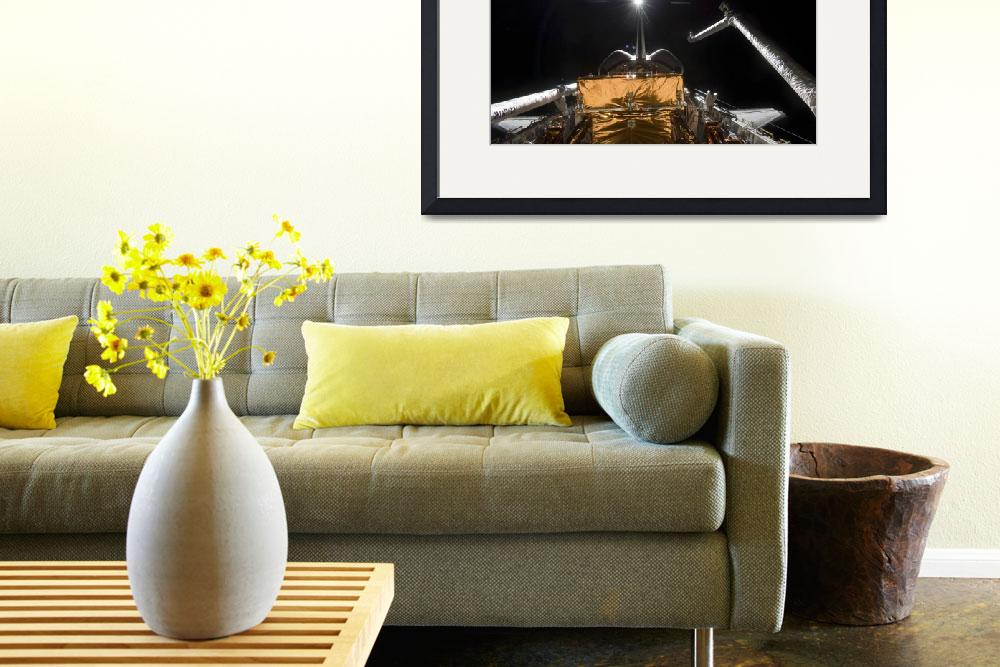 """""""Space Shuttle Atlantis payload bay backdropped by""""  by stocktrekimages"""