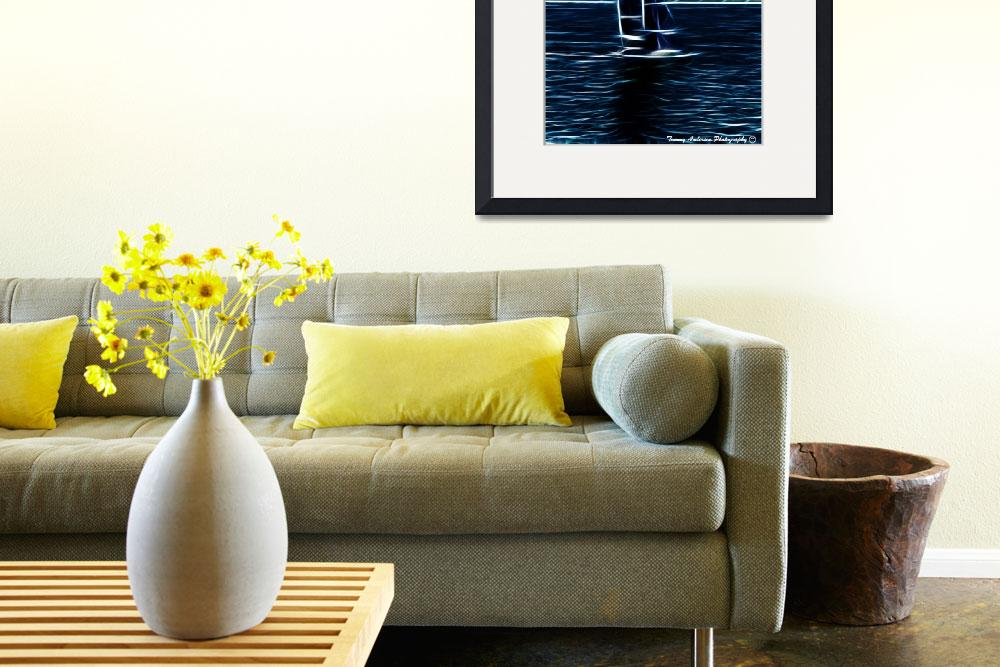 """""""Electric Sail Boat, San Diego&quot  by Time-Passages-Photography"""