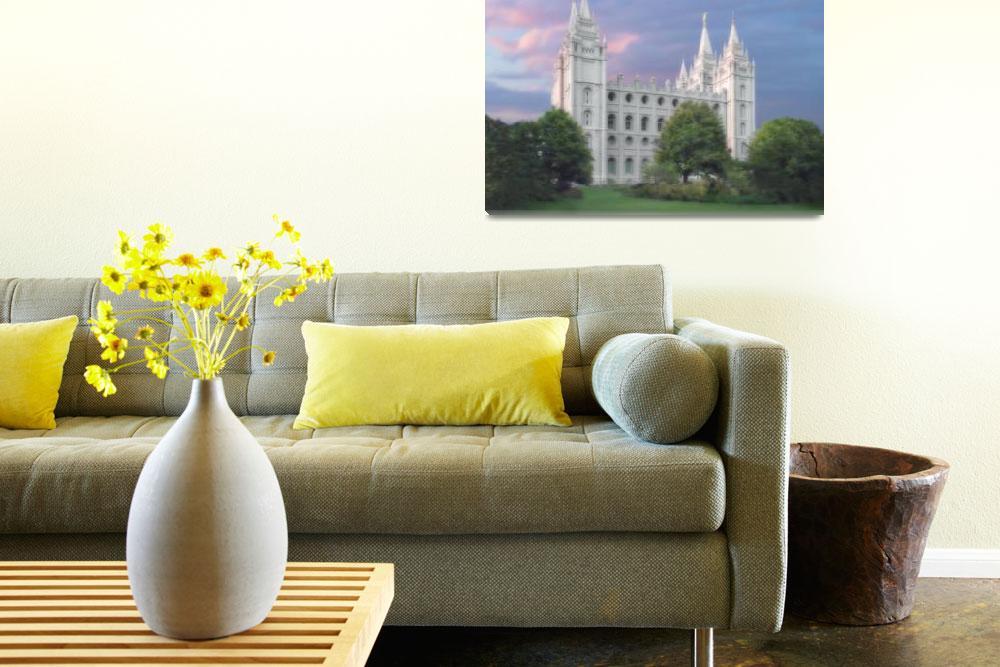 """Salt Lake Temple / Summer""  by TerrySpringer"