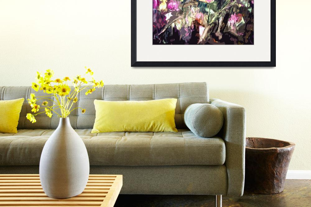 """""""Abstract Thistles Square Modern Floral Art&quot  (2012) by GinetteCallaway"""