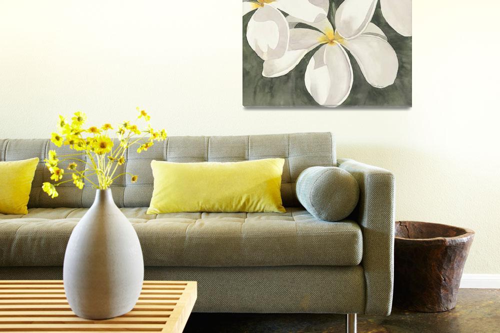 """Fiji white frangipanis""  by karenbowerfiji"