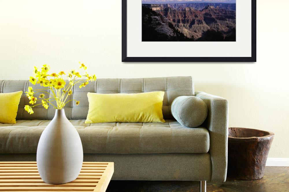 """""""Bright Angel Point view of  the Canyon&quot  (2001) by TOMSHEA"""