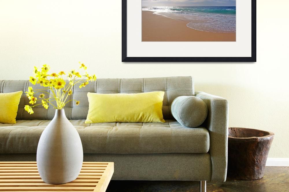 """Sandy Beach Morning&quot  (2008) by skystudiohawaii"