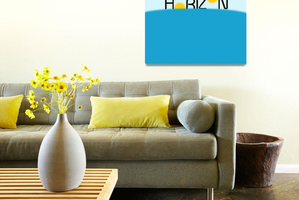 """Horizon Minimalist Art""  by motionage"