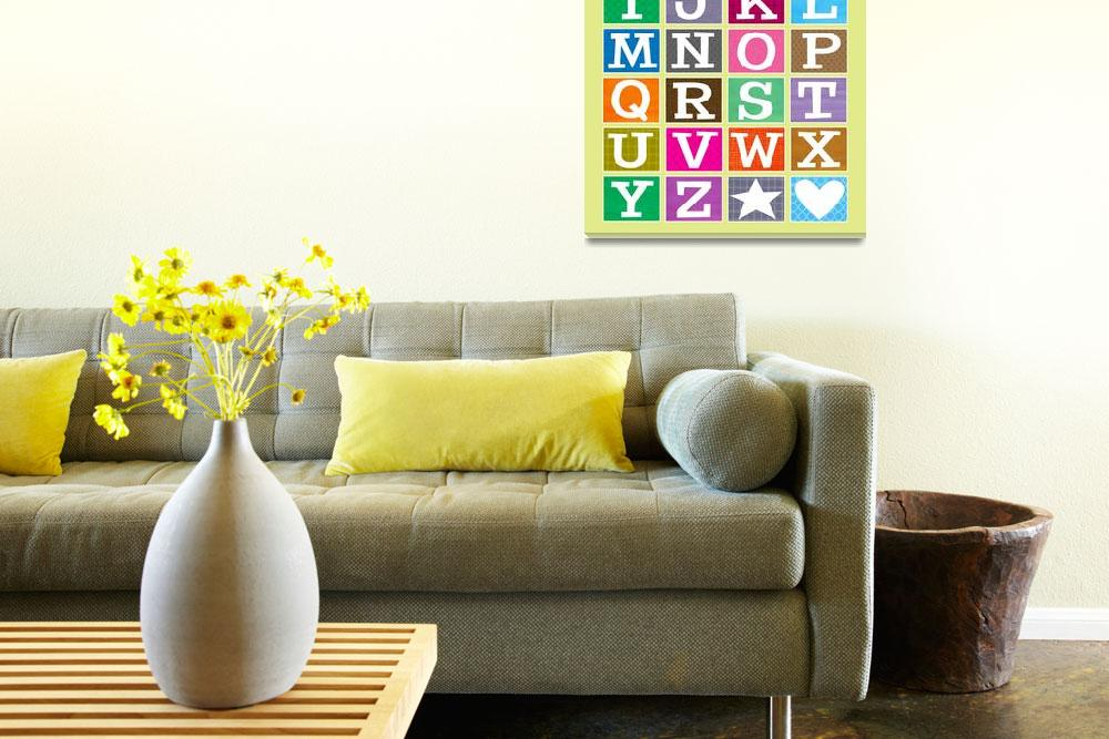 """""""ABC Alphabet Poster&quot  (2009) by karynlewis"""
