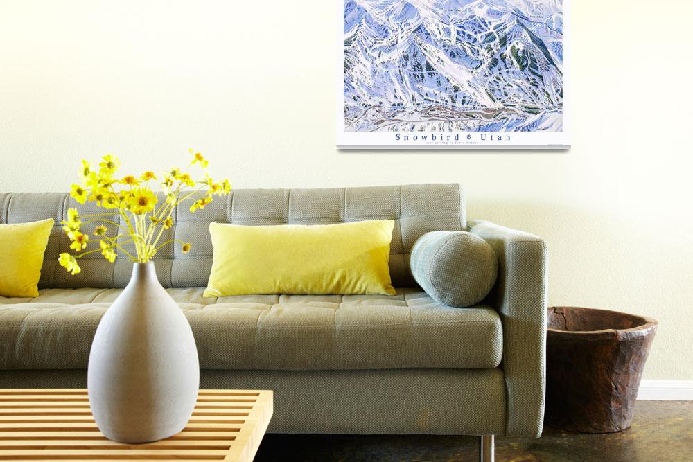 """Snowbird Utah&quot  (2006) by jamesniehuesmaps"