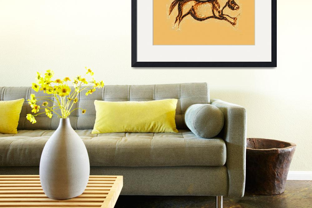 """""""Prehistoric Galloping Horse Brown""""  (2014) by TheNorthernTerritory"""