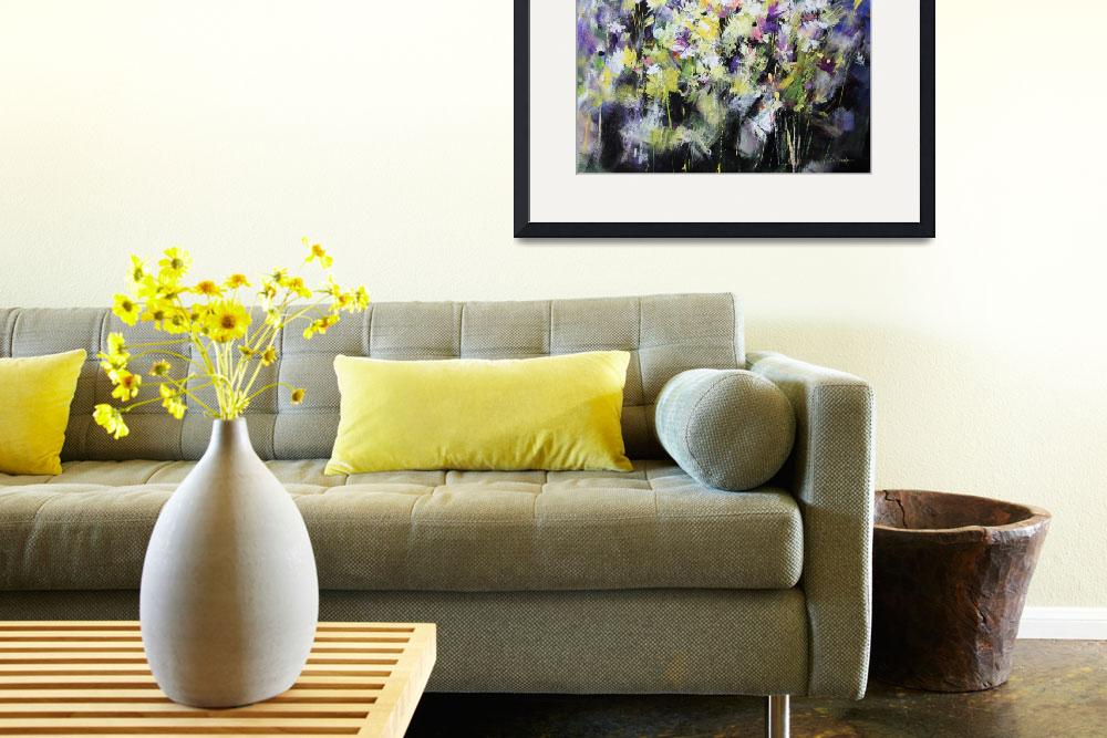 """""""Floral painting&quot  (2011) by zampedroni"""