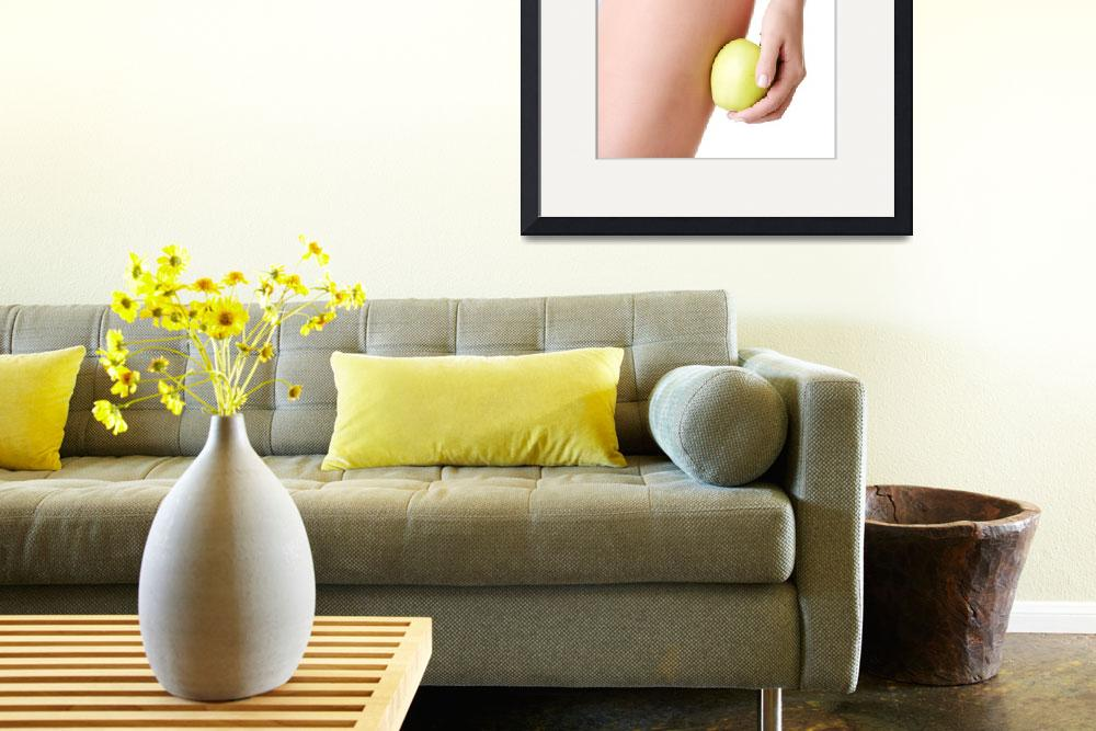 """""""Beautiful female body and apple isolated on white&quot  by Piotr_Marcinski"""