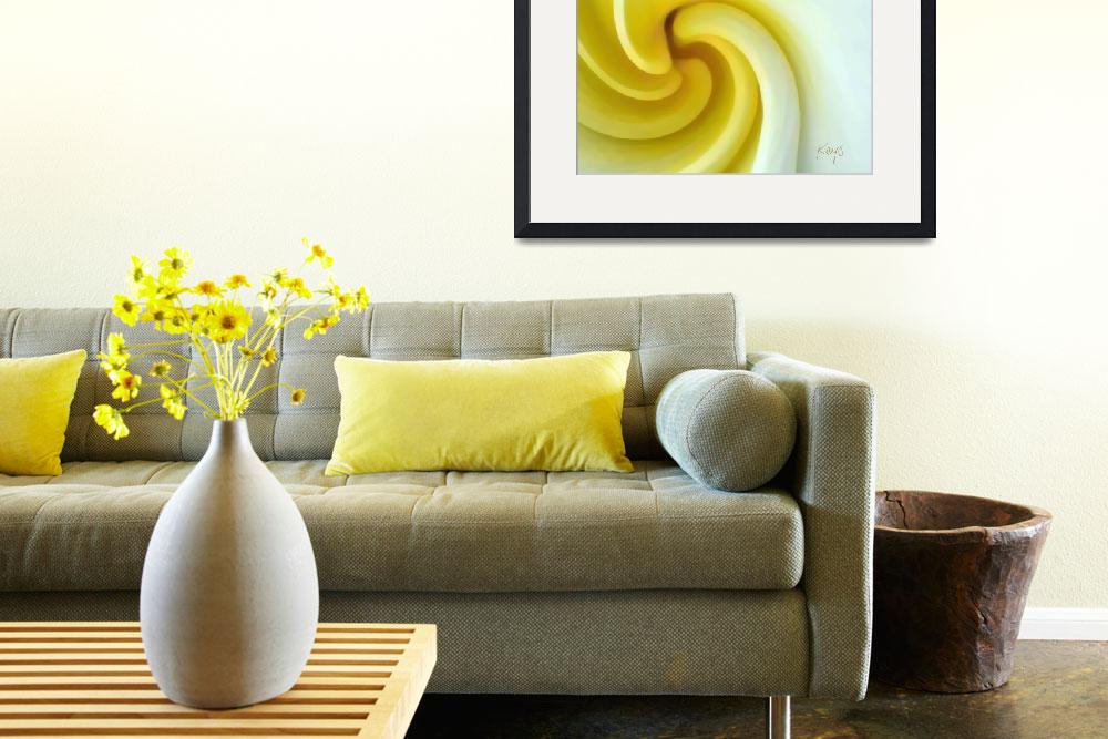 """""""Abstract floral-Daffodil&quot  (2008) by artbykeys"""