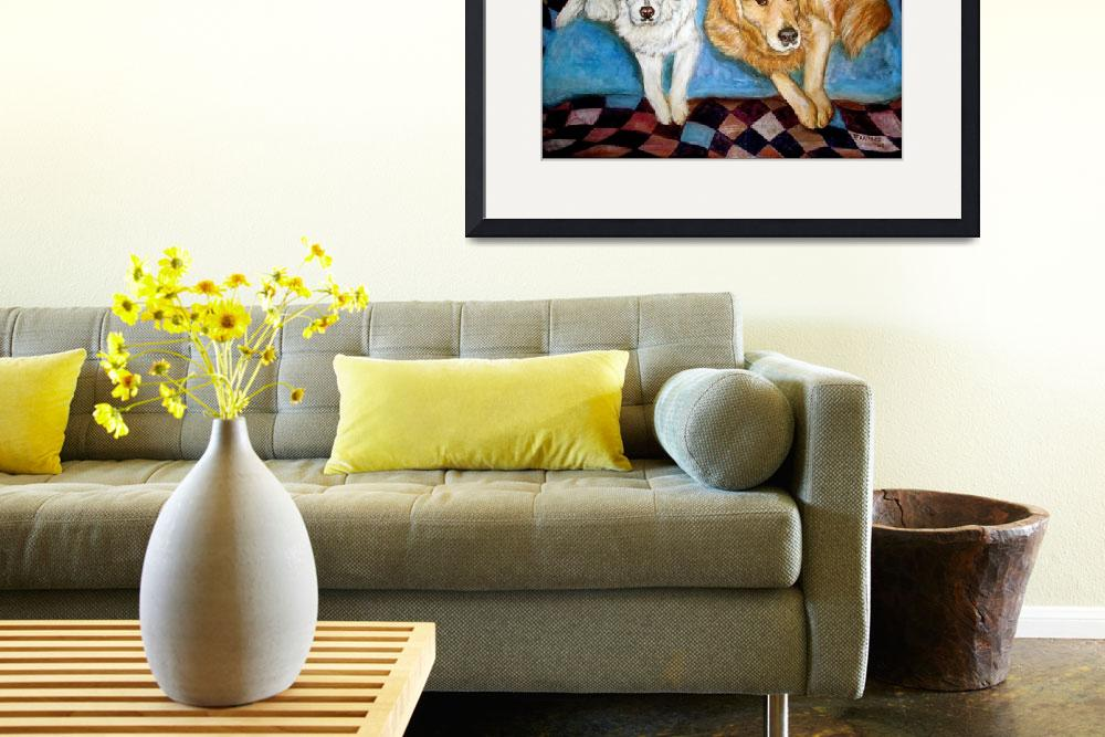"""""""Golden Retrievers Painting Dog Friends&quot  by francesbyrne"""