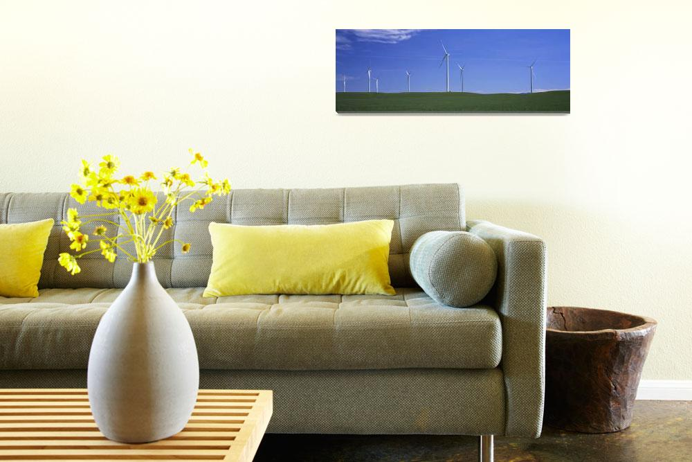 """""""Wind turbines in a field&quot  by Panoramic_Images"""