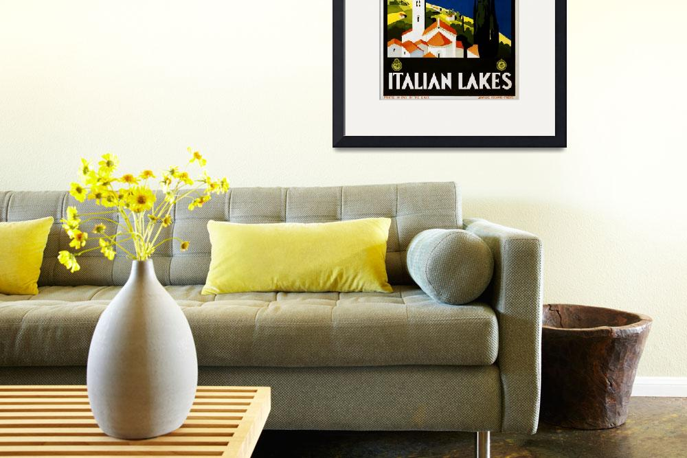 """Italian Lakes Vintage Travel Poster&quot  by Alleycatshirts"