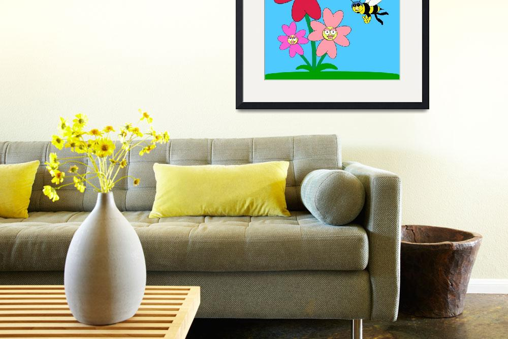 """""""Flowers and bee&quot  (2010) by AbstractArtandPhotography"""