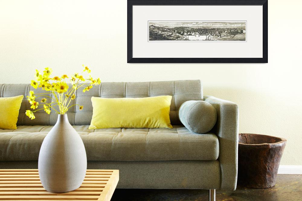 """""""San Francisco California Panoramic Map&quot  by ArtLoversOnline"""
