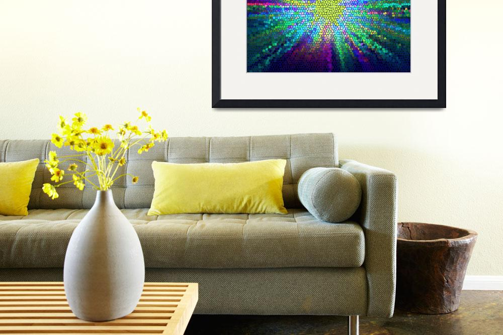 """""""Stain Glass Star Burst&quot  (2012) by dasiygirl"""