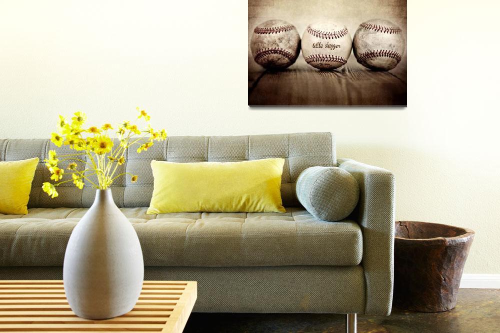 """""""Vintage Baseballs Little Slugger""""  (2012) by shawnstpeter"""