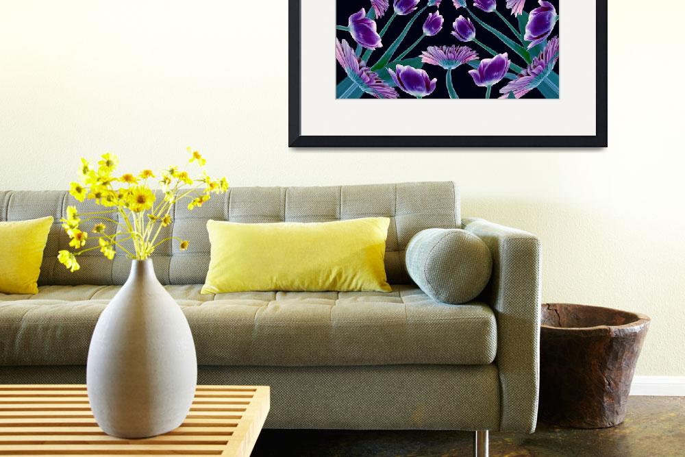"""""""Lots Of  Purple Tulips And Daisies&quot  (2010) by RussMartinPhotography"""