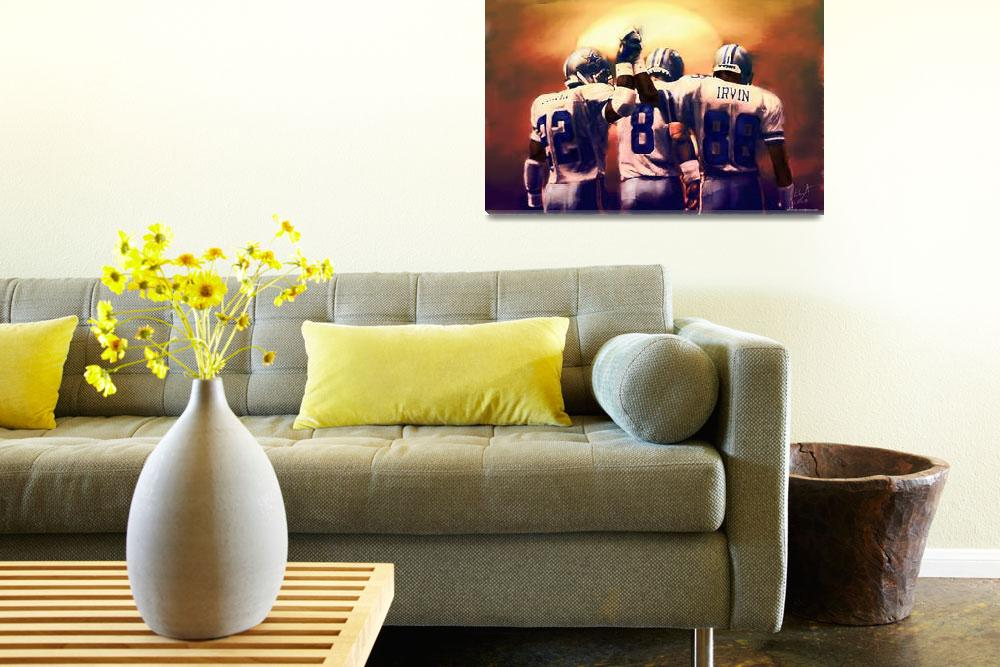 """Dallas Cowboys Emmitt Smith, Troy Aikman superbowl&quot  (2010) by artofvela"