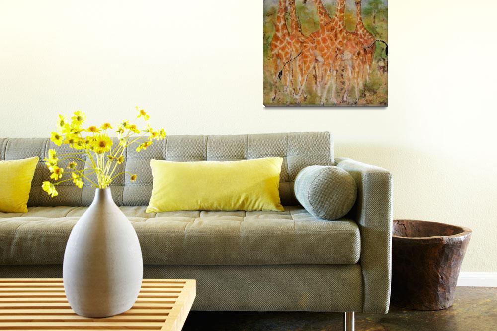 """African Giraffes""  (2005) by DCHeslin"