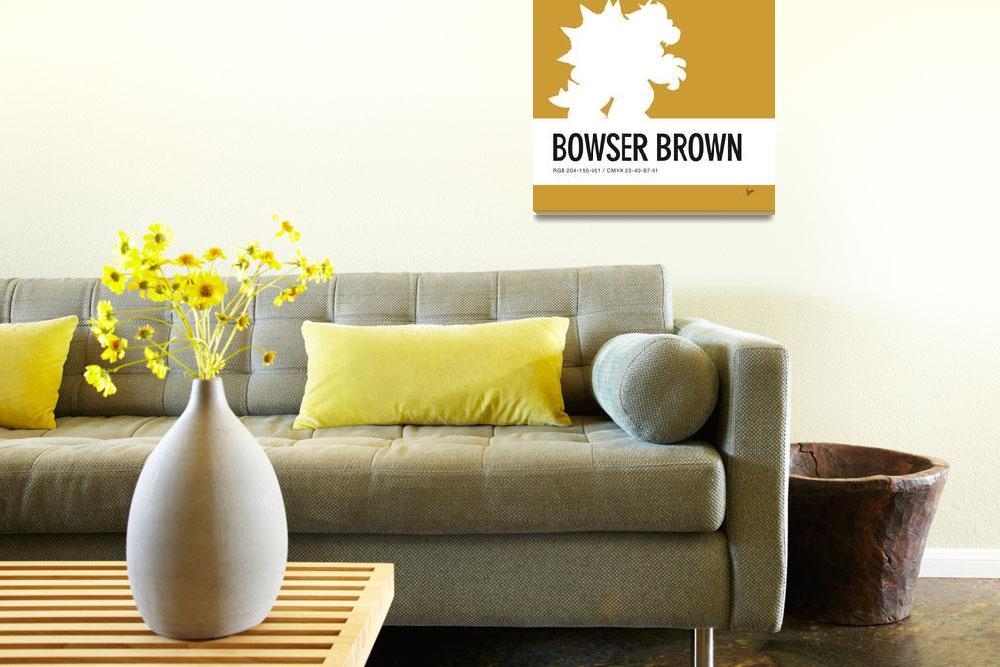 """No38 My Minimal Color Code poster Bowser&quot  by Chungkong"