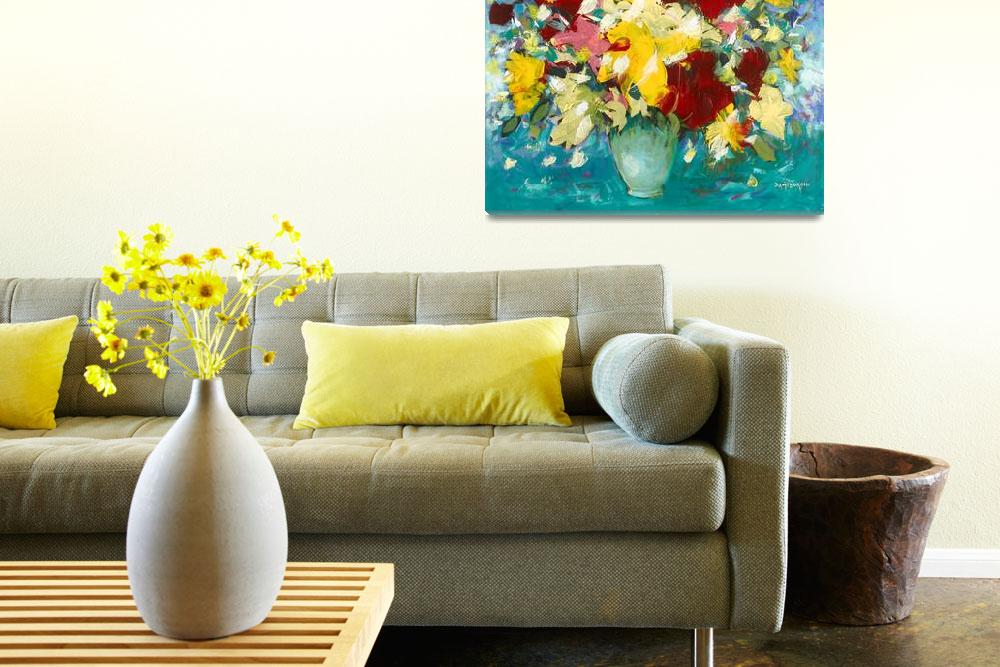 """""""Abstract Still Life - Flowers&quot  (2010) by zampedroni"""