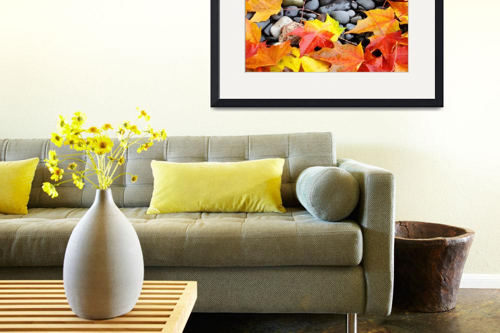 """""""Fall Tree Leaves art prints Colorful Autumn Rocks&quot  (2011) by BasleeTroutman"""