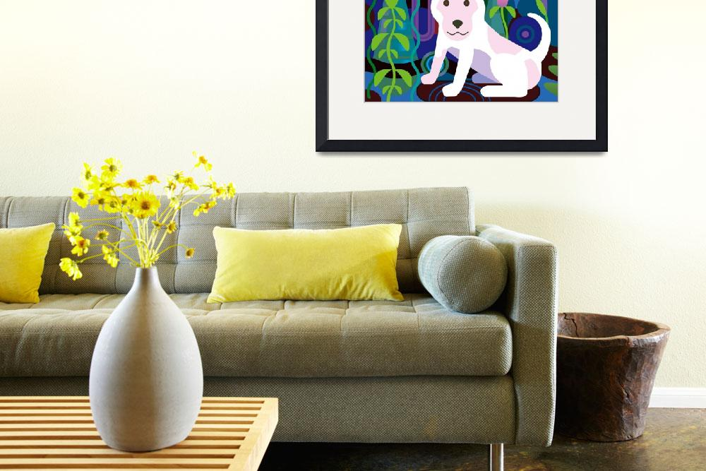 """""""White Dog in Jungle&quot  (2012) by charker"""