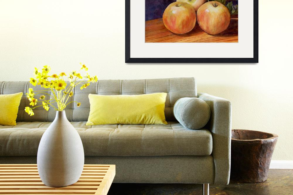 """Three Apples Art Painting&quot  by BlendaStudio"