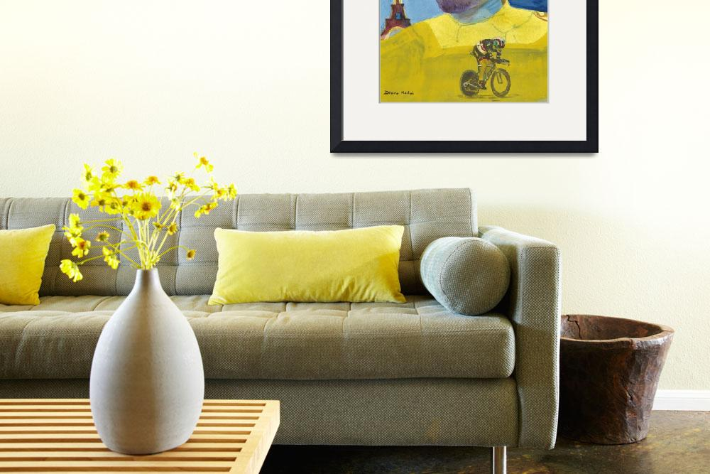 """Wearing the Yellow Jersey Fabian Cancellara&quot  (2012) by DianaNadalFineArt"