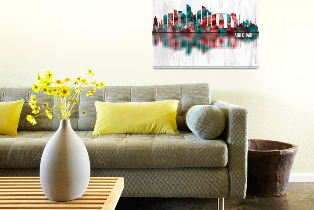 """Abu Dhabi Skyline""  by Towseef"