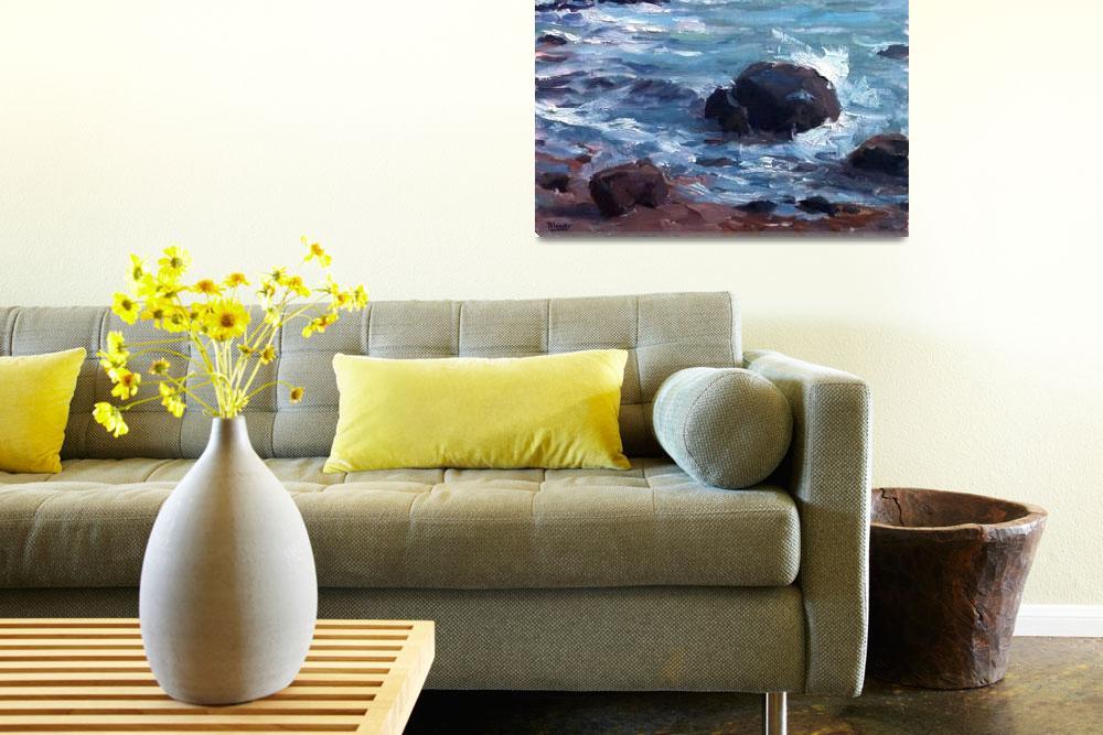 """""""Rocks and Surf at Weekapaug, RI""""  (2011) by blaney"""