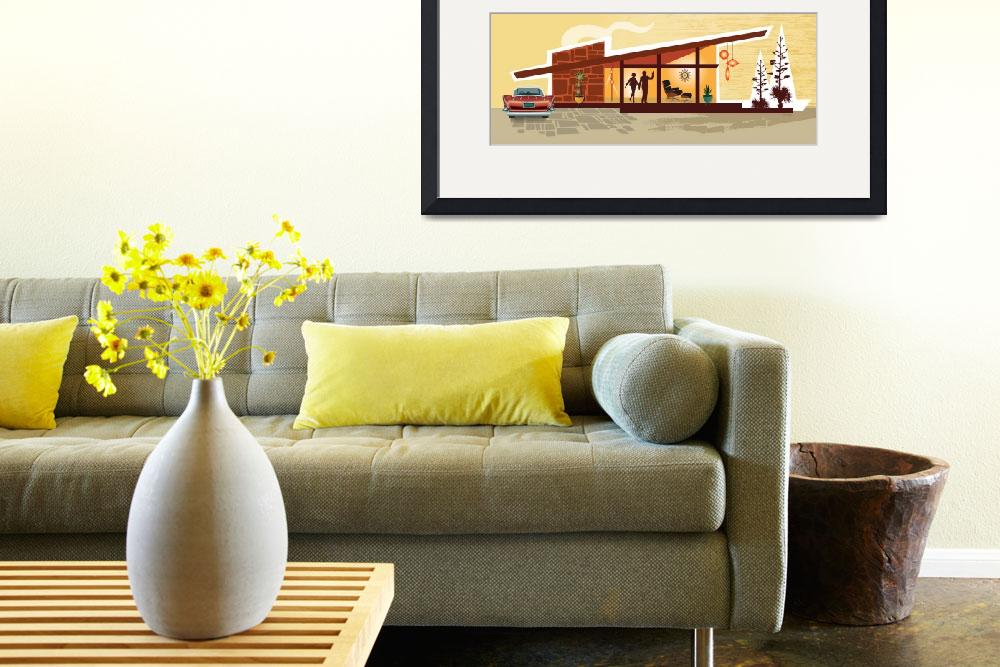 """""""Mid Century Modern House - Angle Roof""""  (2015) by DianeDempseyDesign"""