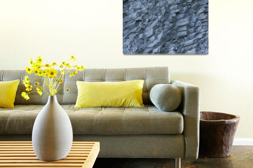 """""""basalt wall close up as background""""  by vkph64"""