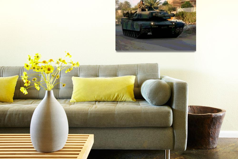 """""""M1 Abrams Tank Late Afternoon Urban Patrol""""  (2014) by TheNorthernTerritory"""